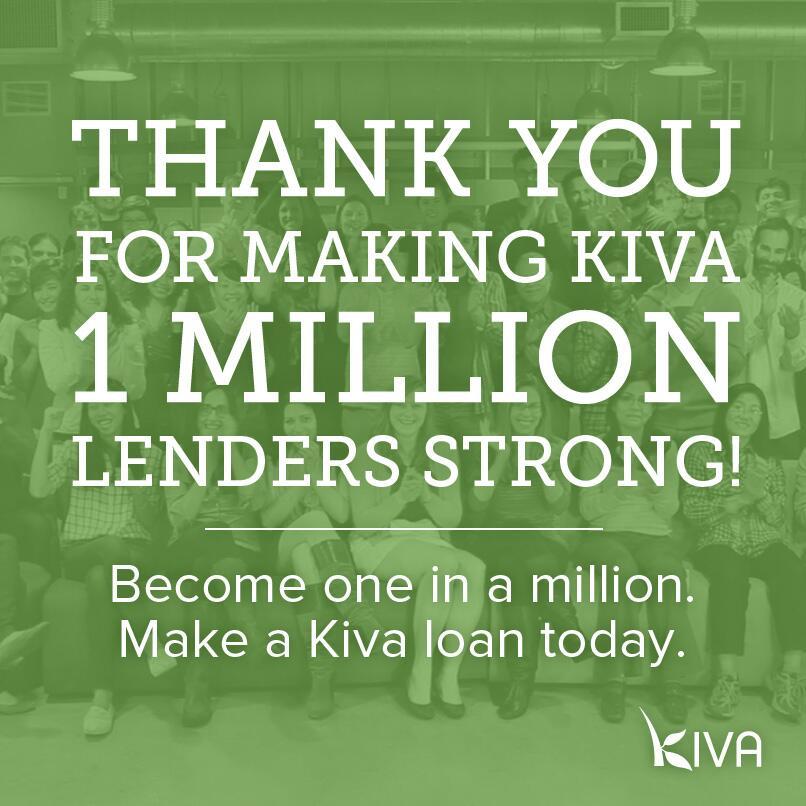 Kiva Hits 1 Million Borrowers Mykro Org
